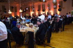 The gym in the Student Life Center on North Campus was transformed into a banquet hall for A Reason to Taste.