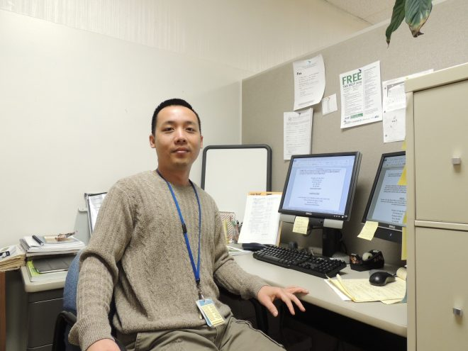 James Shwe, an education major at Ivy Tech Northeast, is a refugee from Burma.  He and his family spent nearly 20 years in a Thai refugee camp before moving to Fort Wayne in 2008.
