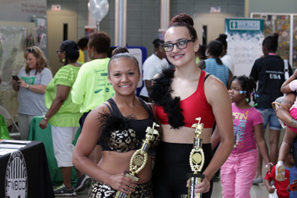 Winners from last year's dance competition at South Side Fest.