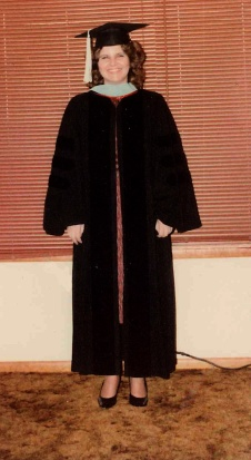 Mosier on her graduation day from Oklahoma State University in 1983. She received a doctorate in higher education administration.