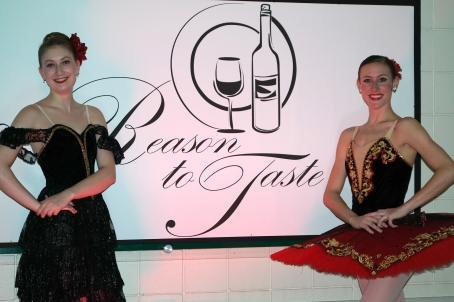 The Fort Wayne Ballet provided entertainment at Saturday's A Reason to Taste fundraiser at Ivy Tech Northeast.