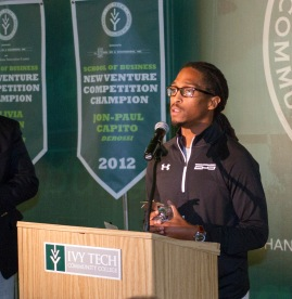 Morgan Williams won Ivy Tech Northeast's 2015 New Venture Competition, in its fifth year. Williams is the founder of Elite Performance Scouting.