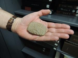 A Sumerian terracotta tablet with a religious inscription, 2200 B.C.