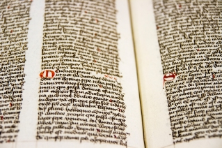 """""""Sentences and On the Contemplative Life Sentences and On the Contemplative Life """" by Isidore of Seville was handwritten with red dropcaps."""
