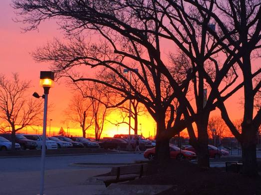 Kerns captured a sunset in December on North Campus.
