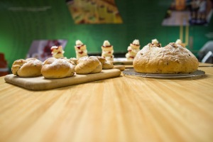 the baking and pastry competition included breads—both loaves and rolls