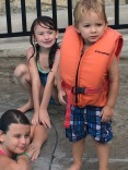 From left: Vanessa, Maddison, and Isaiah, 2