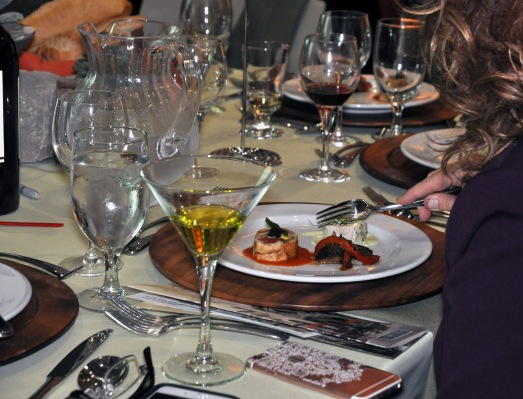 Attendees at A Reason to Taste fundraiser dined on a six-course meal. Hospitality administration students who won January's European Competition traveled to France in the spring and created the menu based on what they learned on the trip. They also cooked and served Saturday's meal.