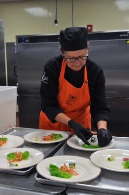 Julie Lowry, a hospitality administration student, was one of the winners of the 2016 European Competition at Ivy Tech Northeast. She traveled to France in the spring and helped create the menu and cook and serve the food for Saturday's A Reason to Taste fundraiser.