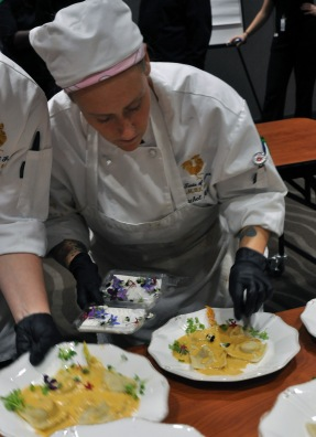 Rachel Martz, a hospitality administration graduate, was one of the winners of the 2016 European Competition at Ivy Tech Northeast. She traveled to France in the spring and helped create the menu and cook and serve the food for Saturday's A Reason to Taste fundraiser.