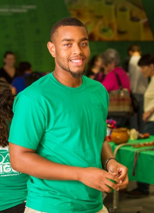 Dontae Hampton, who is studying accounting, was one of 14 Ivy Tech Northeast students to participate in the statewide Ivy Tech Student Leadership Academy leadership development program.