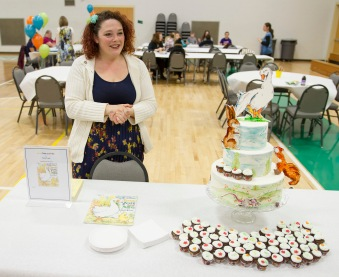 "Cayla Veach, a community member and frequent participator in the Edible Book Festival, made a cake last year based on the children's book ""Just You and Me."""