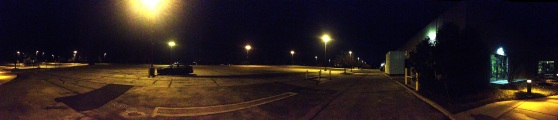The Coliseum Campus (and my car) parking lot at 4:51 a.m.