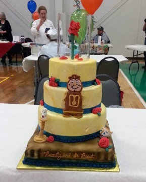"The ""Beauty and the Beast"" cake came in first place in the People's Choice awards."