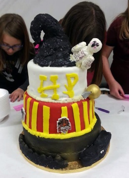 The Harry Potter cake came in second place in the People's Choice awards at the Edible Book Festival.